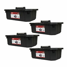 Husky 19x3x7.5 Tool Storage Cleaning Supply Garden Tote Caddy 4PK USA Made