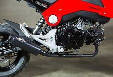 2014 - 2017 HONDA GROM 125 M4 BLACK LOW MOUNT FULL SYSTEM EXHAUST BLACK MUFFLER