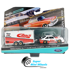Maisto 1:64 Design Tow & Go - 1993 Ford SVT Mustang Cobra With Trailer Eibach