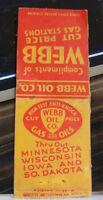 Rare Vintage Matchbook Cover K1 Minnesota Wisconsin Iowa South Dakota Gas Statio