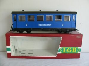Vintage LGB G Scale Blue Zillertalbahn 2nd Class Passenger Car #3163 EX
