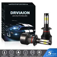 Kit de 2 H7 200W COB LED Phare de Voiture Feux Avant Ampoule 6500K Blanc 30000LM