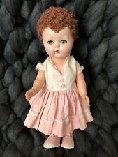Vintage 1950's American Character Tiny Tears Doll with Carcurl Wig
