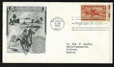 #894 3c Pony Express - Day Lowry FDC EE RH margin - Sacramento