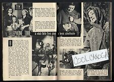 1957 Tv Article~BETTE DAVIS in TELEPHONE TIME~REAL STORY OF BEATRICE SWENSON