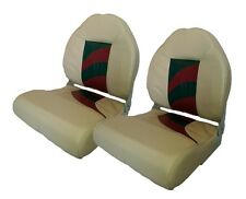 2 NEW KHAKI/RED/CHARCOAL WISE HIGH BACK BOAT SEATS  *Free Shipping*