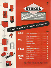 Stokol Gas Oil Coal Heating Equipment 1948 Brochure Stokol Stoker Co Dayton Ohio