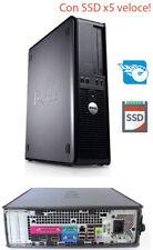 PC COMPUTER DESKTOP SSD 128 GB RICONDIZIONATO RIGENERATO DELL OPTIPLEX 780 4GB