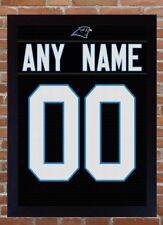 Camiseta de Jersey Carolina Panthers Nº Home Kit Personalizado Camiseta Camiseta añadir un nombre 100% Lienzo Enmarcado