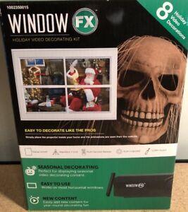 Window FX Christmas Halloween Animated 8 Video Projector Digital Decor HOLIDAY