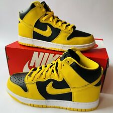Nike Dunk High SP Varsity Maize UK 8.5 US 9.5 EUR 43 Black Yellow CZ8149 002