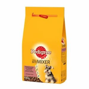 Pedigree Chum Small Bite Mixer Dry Food for Small Dogs Wholegrain Cereal