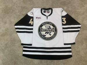 San Antonio Rampage Specialty Face Off Against Kids Cancer AHL Jersey Blues CCM