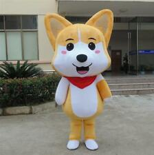 Advertising Husky Dog Mascot Costume Suit Dress Adult Birthday Party Cosplay NEW