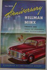 Hillman Minx 21yrs of Progress Original UK Sales Brochure No. 193/53/30/H 1953