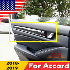 For Honda Accord 2018 2019 Carbon Fiber Black Door Panel Stripes Cover Trim 4pcs