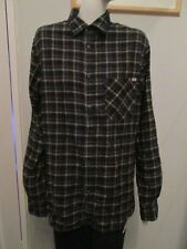 JACK&JONES - BLUE,BROWN CHECKED, LONG SLEEVED SHIRT Size M, 100% COTTON