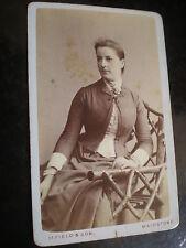 Cdv photograph woman mary Billett by Mortimer Field Maidstone c1880s Ref 512(12)