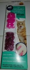 Whisker City Declawing Kitty Caps Cat Pink & Purple Medium 40 Caps Nail File