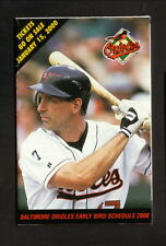 BJ Surhoff--2000 Baltimore Orioles Early Bird Pocket Schedule--Giant