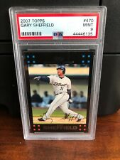 2007 Topps Gary Sheffield Baseball Card #470 PSA 9 Mint