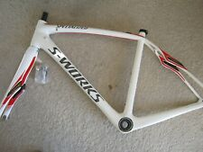 SPECIALIZED S-WORKS ROUBAIX SL4 11r FULL-CARBON FRAMESET, WHITE, SIZE 52, VGC