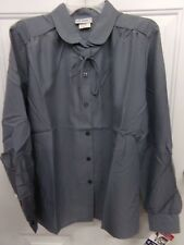 Womens Size 14 Gray Button Front Shirt Blouse Vicki Wayne Nwt