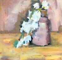 """Original Oil Painting by Lisa Daria """"Cascade"""" Still Life in Custom Framing"""