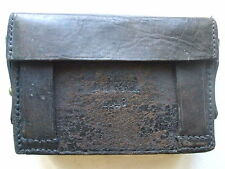 VINTAGE 1948 BROWN LEATHER ARMY AMMO BELT POUCH BRASS STAMPED D.M.G.G.F ORIGINAL