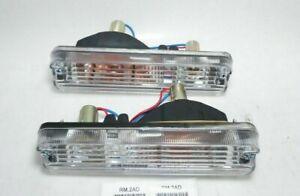 Pair DAIHATSU F70 ROCKY FEROZA FOURTRAK TURN SIGNAL FRONT BUMPER LAMP ASSY