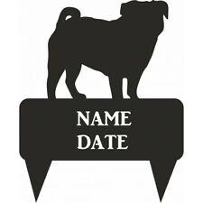 Pug Rectangular Memorial Plaque