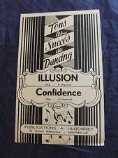 Partitura Ilusion Confianza de A. Hugonnet Slow 1951