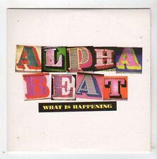 (FZ156) Alpha Beat, What Is Happening - 2008 DJ CD