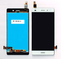 "P1 DISPLAY LCD+ TOUCH SCREEN HUAWEI PER ASCEND P8 LITE 5,0"" VETRO BIANCO ALE-L21"