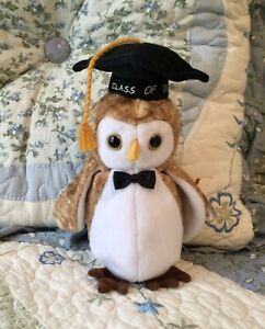 Wisest 2000 Beanie Baby Graduation Owl.   MWMT