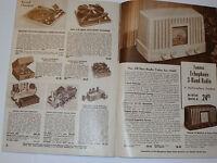 VINTAGE 1949 ELECTRONICS CATALOG! EARLY TV's! TUBE RADIOS! PA SYSTEMS! PARTS! ++