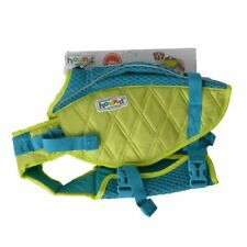 LM Outward Hound Standley Sport Life Jacket for Dogs - Green/Blue Medium - 30-55