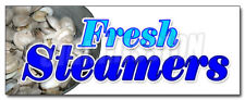 FRESH STEAMERS DECAL sticker seafood oysters clams bottom dwellers