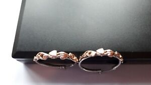 Clogau gold Silver/9ct Rose Gold Earrings 3.6 Grams RRP £169