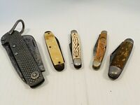 Vintage Pocket Knives  And Tool Knife Lot Of 5