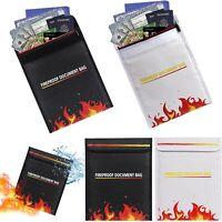 Firebag Feuersichere Dokumententasche Dokumente Geld Ausweis Mappe feuerfest Bag