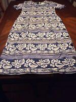 Vintage Jeffrey Dara By Linda Hutley Dress Size 10 Hawaiian Print Fitted Womens