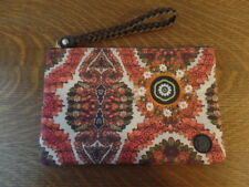 Desigual Soft Embroidered Fabric Wristlet / Clutch