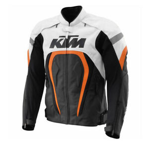 KTM Motorcycle / Motorbike Motogp Race Street Gear Cowhide Leather Jacket
