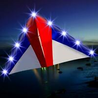 NEW Delta Luminous Kite with 10 Meters Long Rainbow Tails and Single Line kite
