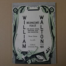 WILLIAM WALTON belshazzars geast, VOCAL SCORE