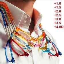 Lunettes de lecture magnétique réglable pliant s'accroche au cou