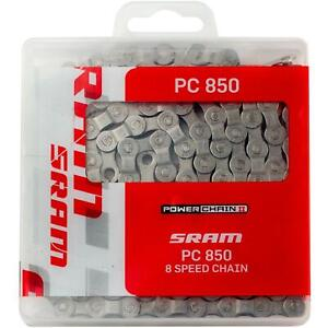 SRAM PC-850 - 8 Speed Bicycle Power Chain - Solid Pin Bike Chain - 114L Link