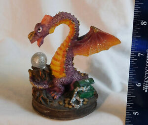 "9 Colorful 3.5"" Dragon Figures Dollarama B's Collectibles Treasure Crystal Balls"