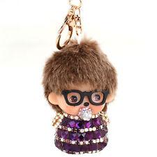 Monchichi Nipple Sunglasses Keychain Keyring Key Ring Purse Bag Pendant Charm
